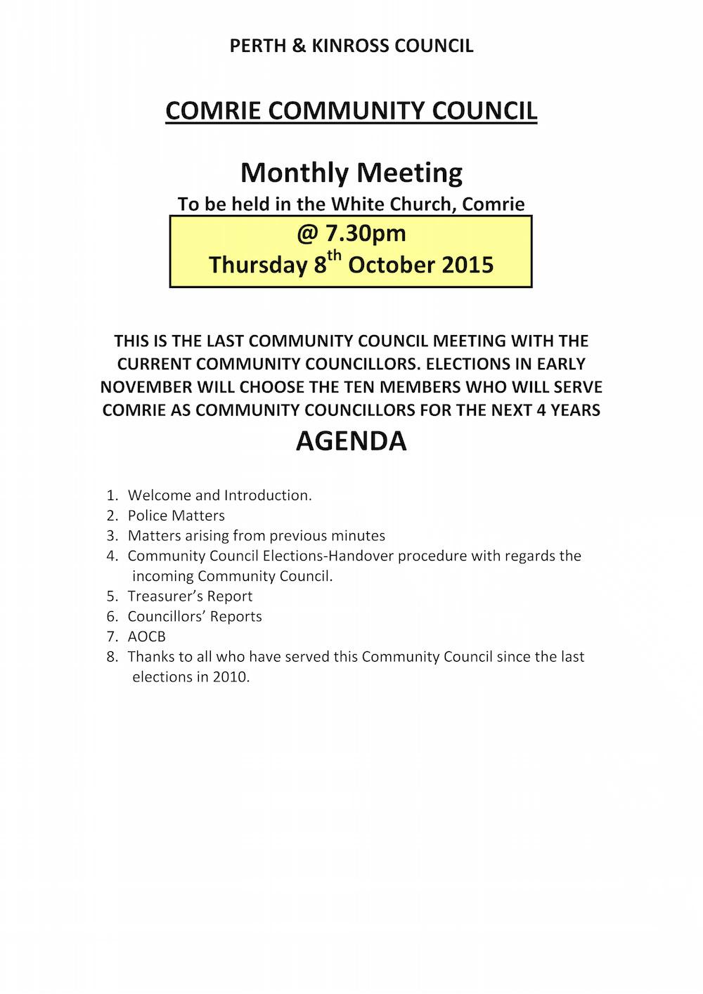 15.10.08 CCC Agenda