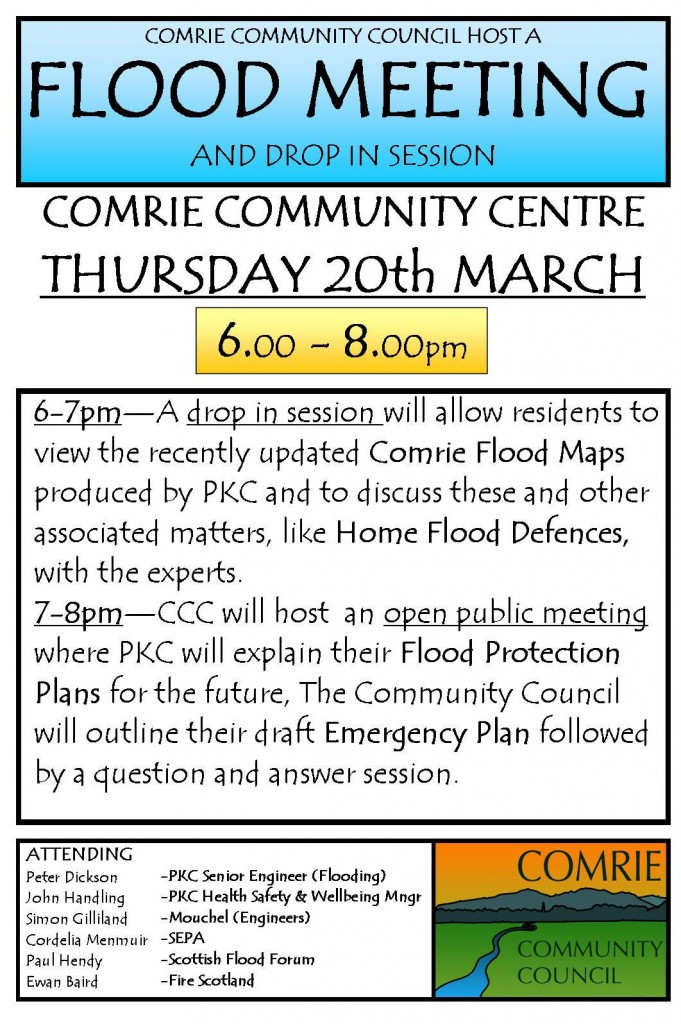 20th March Flood Mtg