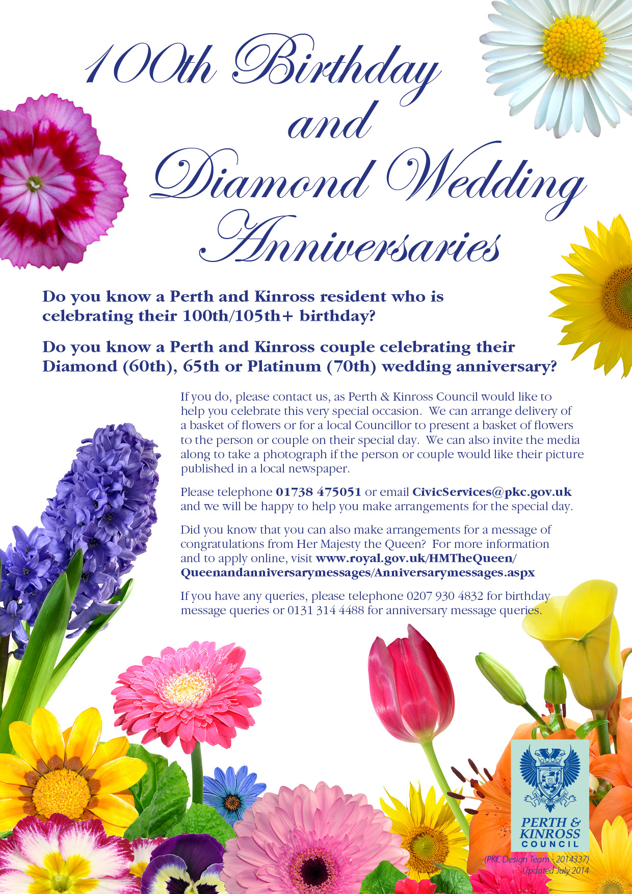 Wanted 100th Birthday Or Diamond Wedding Anniversary Folks Comrie