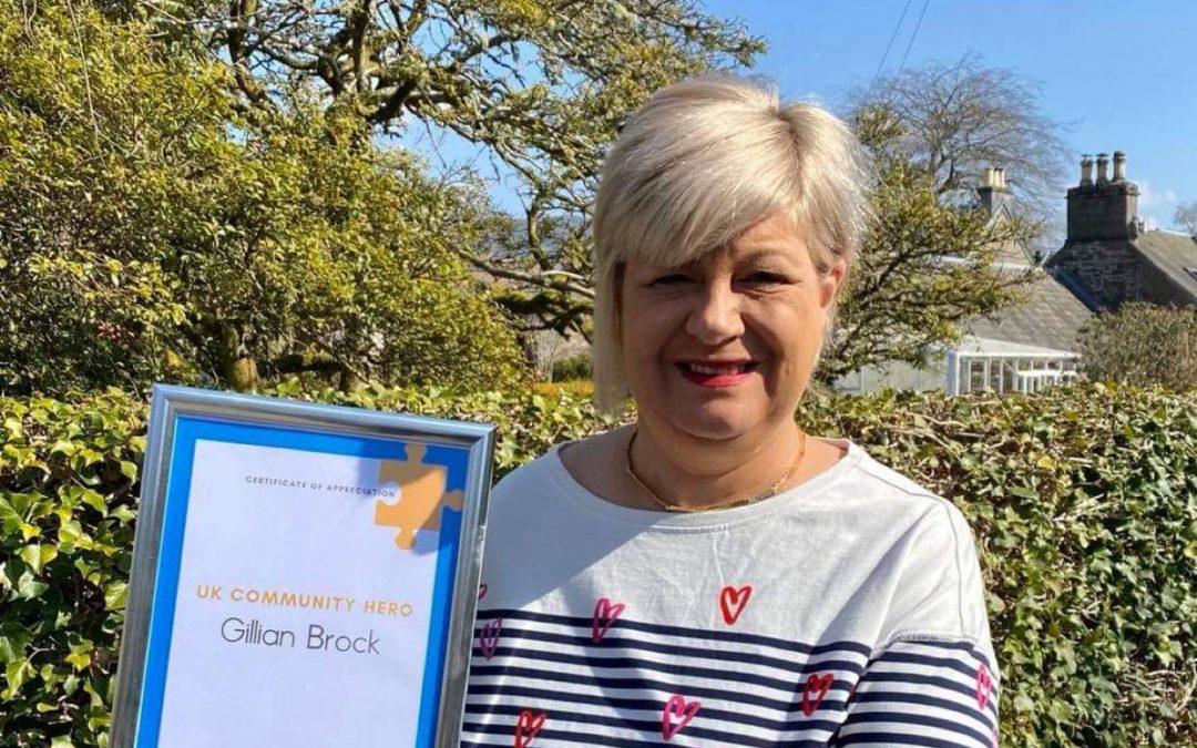 Gillian Brock Receives UK Community Hero Award for Pandemic Work